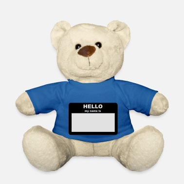 Hello My Name Is Name tag - HELLO my name is - Teddy Bear