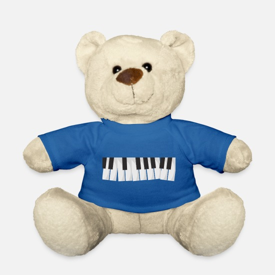 Key Teddy Bear Toys - keyboard - Teddy Bear royal blue