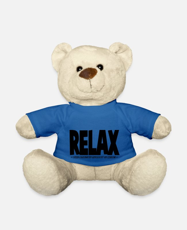 Relax Teddy Bear Toys - relax the amazing murray is here - Teddy Bear royal blue
