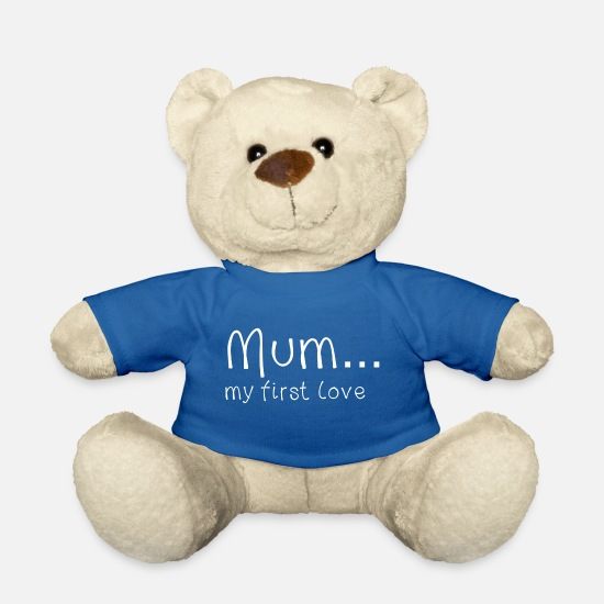 Love Teddy Bear Toys - Mother's Day Mum my first love white - Teddy Bear royal blue