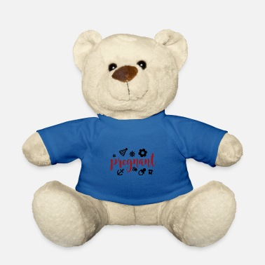 Birth pregnant baby child born birth gift idea - Teddy Bear