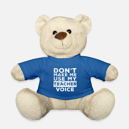 Voice Teddy Bear Toys - Teacher voice - Teddy Bear royal blue