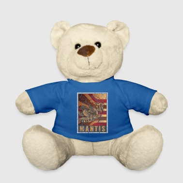 Trendy Retro Praying Mantis Poster Distressed Look - Teddy Bear