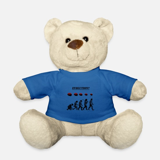 Stencil Teddy Bear Toys - Evolution? - Teddy Bear royal blue