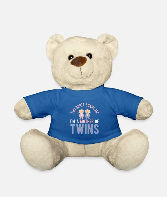 Calm Teddy Bear Toys - Mother of twins Twins twin mom mom - Teddy Bear royal blue