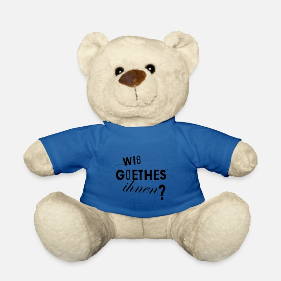 Poesie Peluche - PIACE COME TI TUMBLR POET SHIRT - Orsetto blu royal
