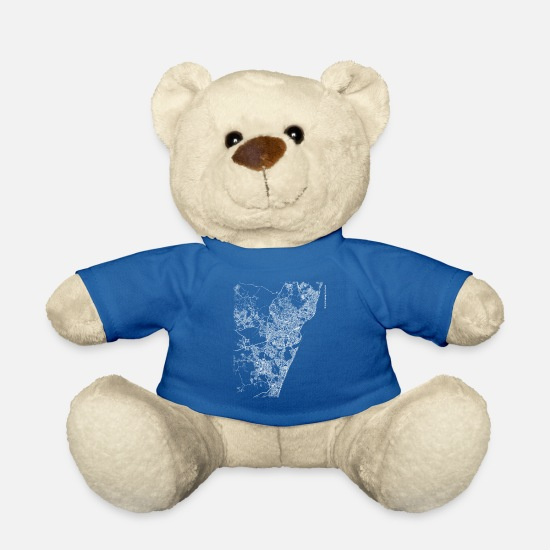 Area Teddy Bear Toys - Minimal Recife city map and streets - Teddy Bear royal blue