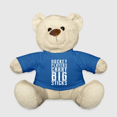 Walking Stick Hockey players carry big sticks - Sport gift - Teddy Bear