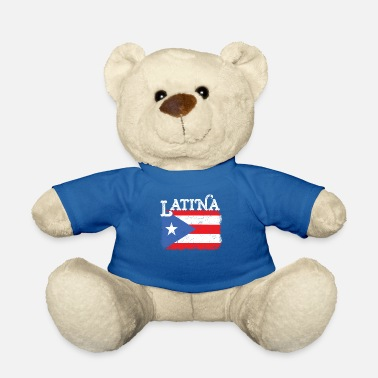 Juan Womens Puerto Rico Latina Mama Flag Mothers Day - Teddy Bear