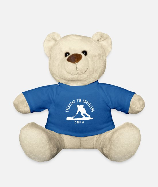 White Teddy Bear Toys - Snow snow shoveling snow - Teddy Bear royal blue