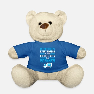 Carrier Mail Carrier Funny Gift I Postal Carrier Costume - Teddy Bear