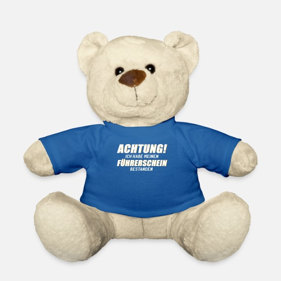 Taxi Teddy Bear Toys - Attention driver's license passed! novice drivers - Teddy Bear royal blue
