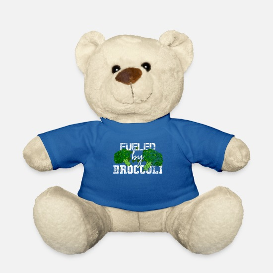 Veggie Teddy Bear Toys - Broccoli vegetables - Teddy Bear royal blue