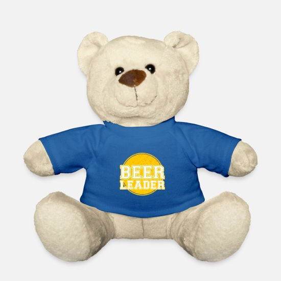 Birthday Teddy Bear Toys - Beerleader hops drink gift - Teddy Bear royal blue