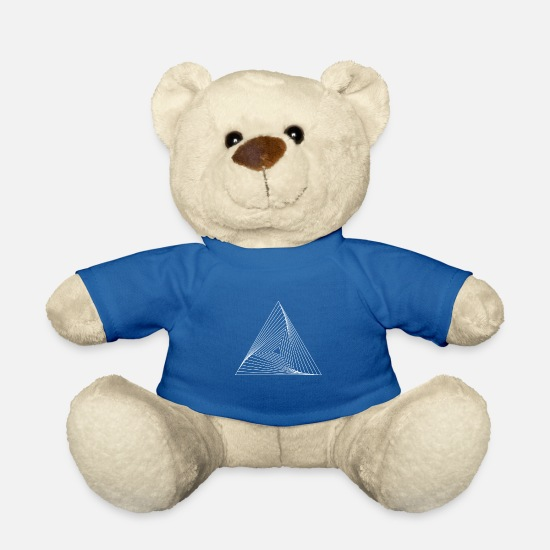 Optical Illusion Teddy Bear Toys - Triangle pattern illusion paradox yoga gift - Teddy Bear royal blue