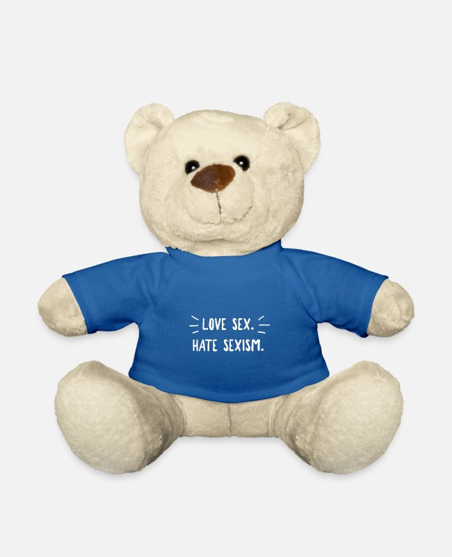 Heart Teddy Bear Toys - Love Sex. Hate Sexism. - Teddy Bear royal blue