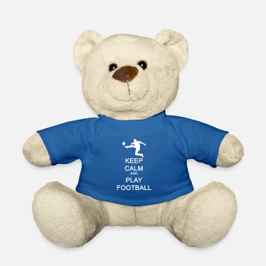 England Keep Calm and Play Football Geschenkidee - Teddybär