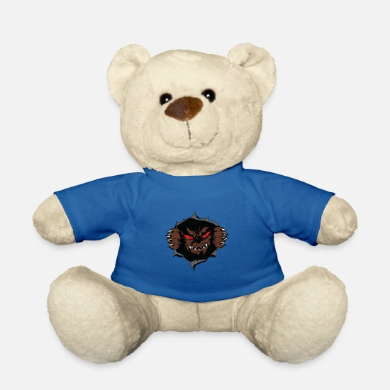 Scare Teddy Bear Toys - scary breast monster - Teddy Bear royal blue