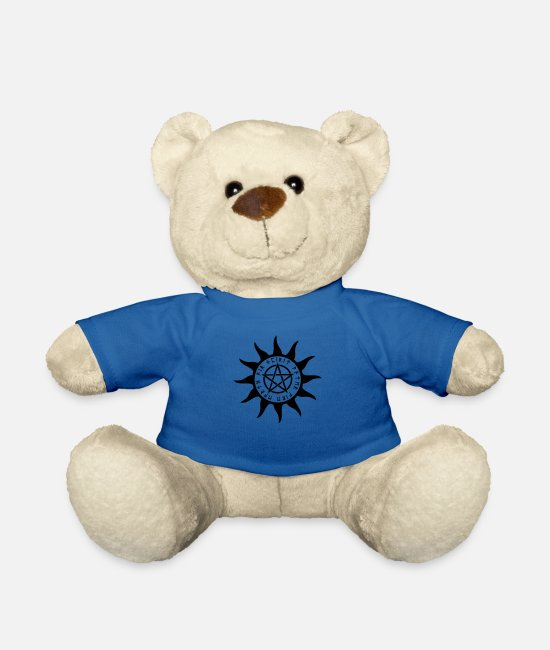 Star Symbol Teddy Bear Toys - Pentagram Rune - Teddy Bear royal blue