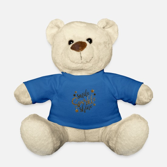 Gold Teddy Bear Toys - Smile Sparcle Shine - Teddy Bear royal blue