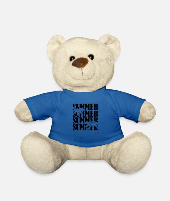 Travel Bug Teddy Bear Toys - Summer summer - Teddy Bear royal blue