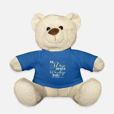 Worship Cross Star worship worship Faith Psalms - Teddy Bear