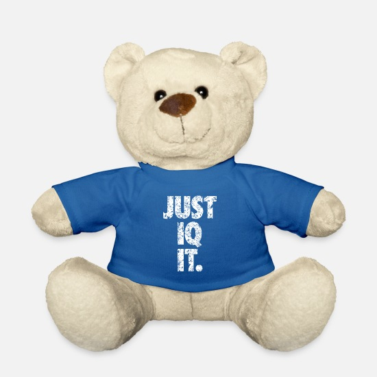 Typography Teddy Bear Toys - Just IQ it - Teddy Bear royal blue
