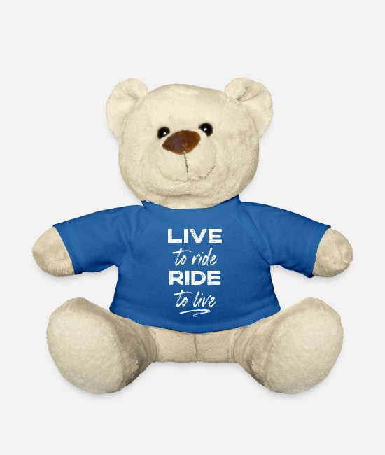 Biker Teddy Bear Toys - Bikers - Teddy Bear royal blue