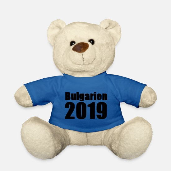 2019 Teddy Bear Toys - Bulgaria 2019 [black] - Teddy Bear royal blue