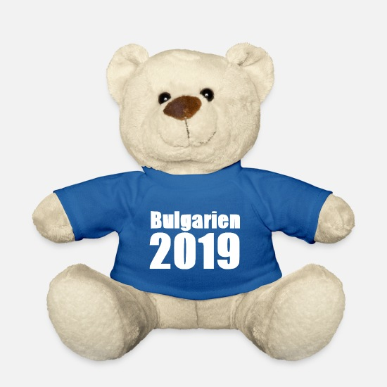 2019 Teddy Bear Toys - Bulgaria 2019 [white] - Teddy Bear royal blue