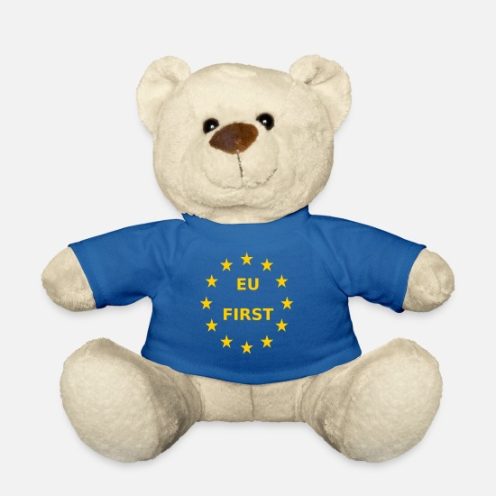 Eu Teddy Bear Toys - EU First Europe First - Teddy Bear royal blue