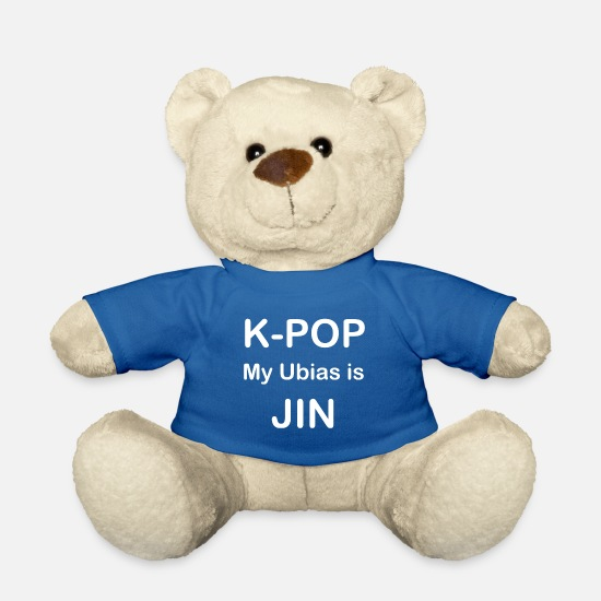 Pop Teddy Bear Toys - k myubias is JIN white - Teddy Bear royal blue