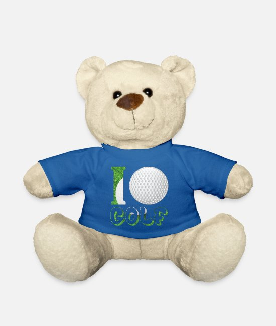 Golfisti Peluche - Golf Golf Ball Golf Club Regalo per i golfisti - Orsetto blu royal