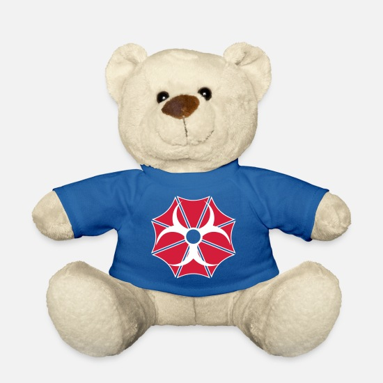 Shield Teddy Bear Toys - Reactor logo - Teddy Bear royal blue