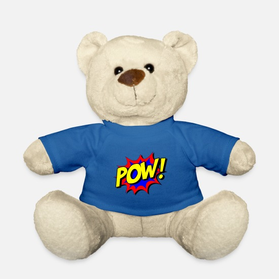 Gift Idea Teddy Bear Toys - superhero comic - Teddy Bear royal blue