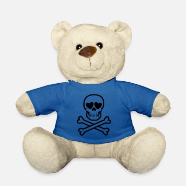 Eros & Thanatos Skull and Crossbones by Cheerful - Teddy Bear