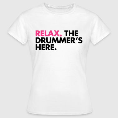 The Drummer's Here  - T-shirt dam