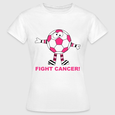 Fuck Fight Cancer Krebs Brustkrebs Fussball Ball - Frauen T-Shirt