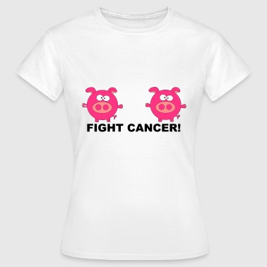 Breast Cancer Awareness Fuck Fight Cancer Schweine Schweinchen Krebs Fun - Frauen T-Shirt