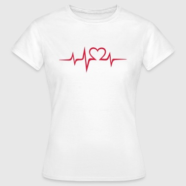 Heart rate music Dub Techno House Dance Electro - Frauen T-Shirt