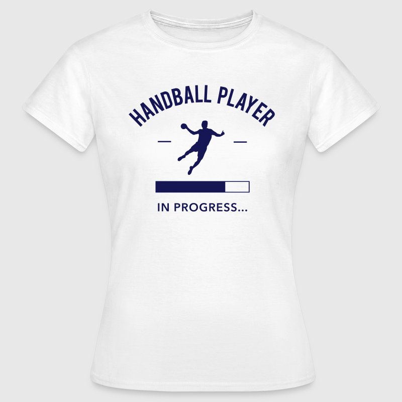 Handball player loading - Frauen T-Shirt