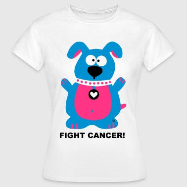 Fuck Fight Cancer Krebs Brustkrebs Hund Dog - Frauen T-Shirt