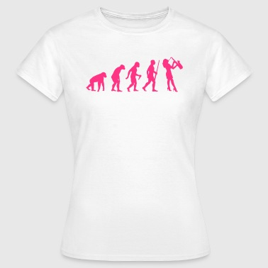 Saxofon Evolution - Frauen T-Shirt