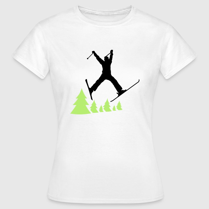 ski jump trees - Women's T-Shirt
