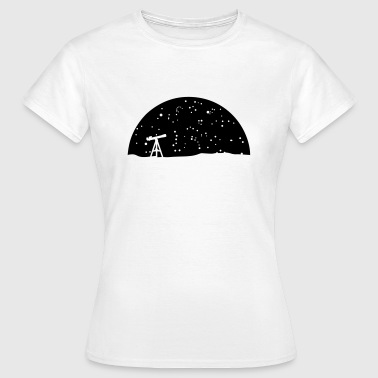 Astronomie, Telescope and stars - T-shirt Femme