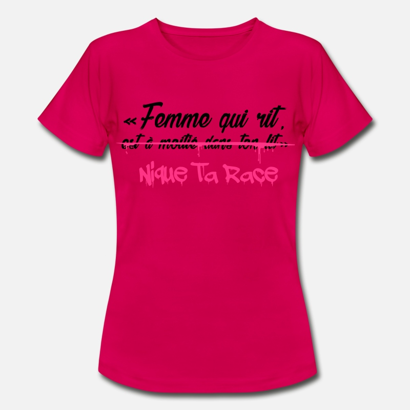 Femme qui rit T-shirt Femme   Spreadshirt 6445d24d492d