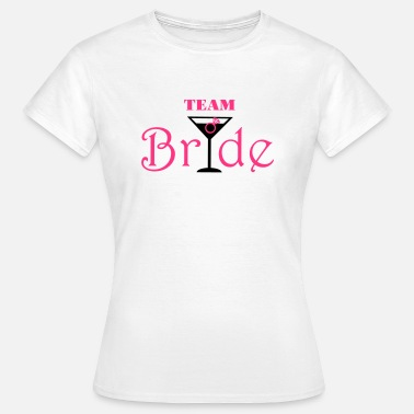 Team De La Mariee Team Bride Cocktail - T-shirt Femme