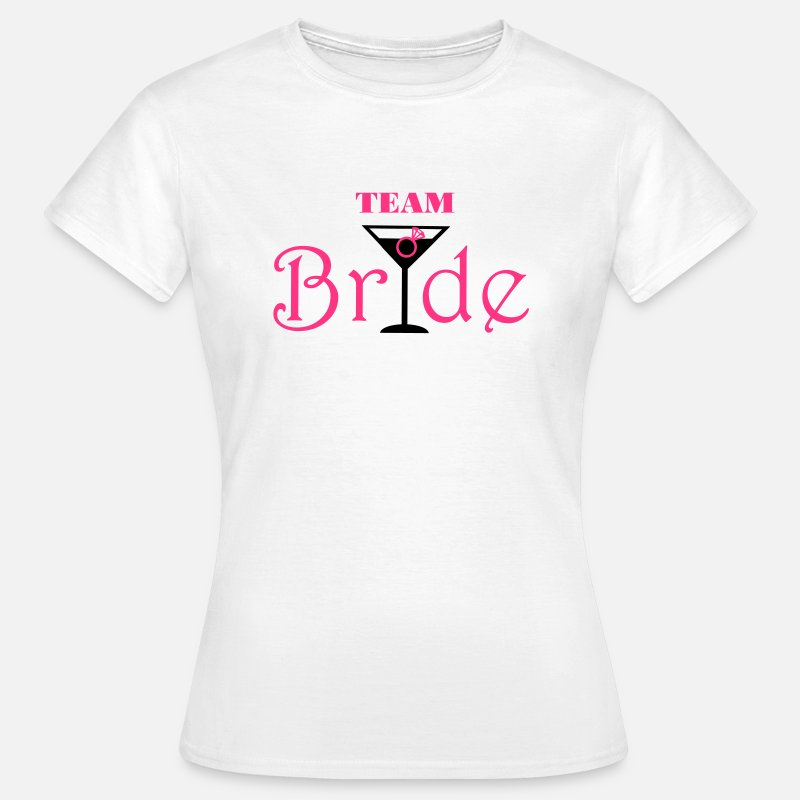 Cocktail T-shirts - Team Bride Cocktail - T-shirt Femme blanc