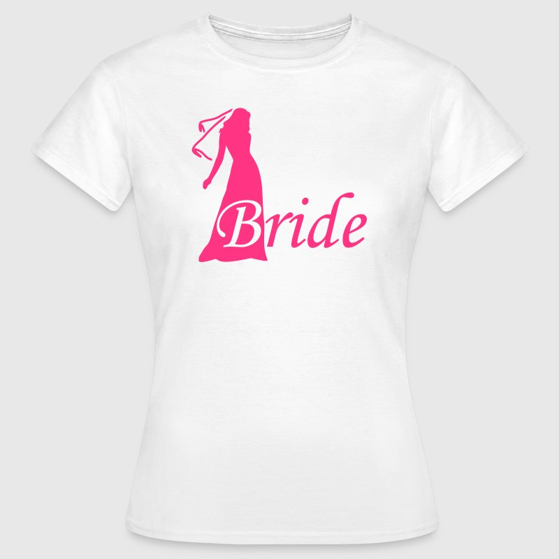 bride silhouette hen night - Vrouwen T-shirt