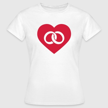 Wedding Rings in Heart - Frauen T-Shirt